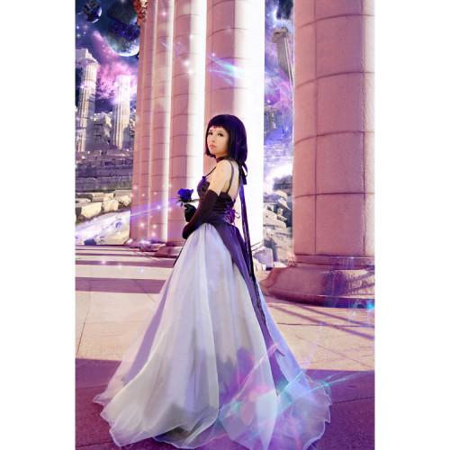 Sailor Moon Tomoe Hotaru Sailor Saturn Princess Purple Formal Dress Cosplay Costume