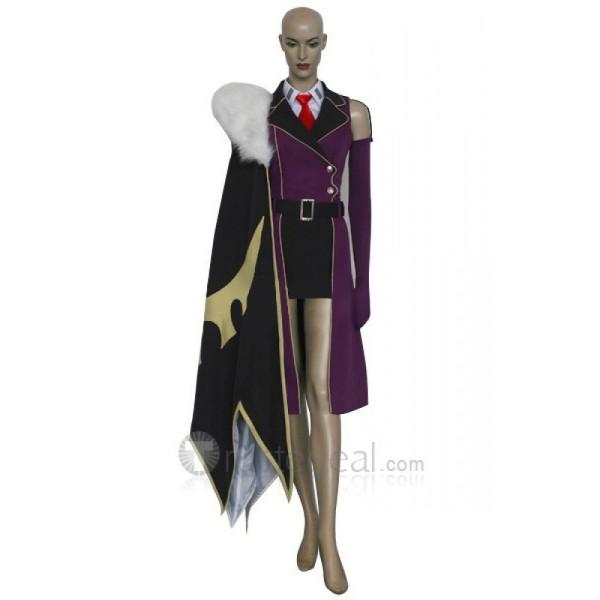 Code Geass Villetta Nu Purple Cosplay Costume