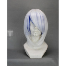 Vocaloid Snow Miku Hatsune Short White Blue Cosplay Wig