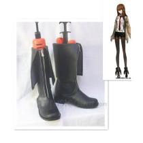 Steins Gate Makise Kurisu Black Cosplay Shoes Boots