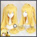 To LOVE-Ru Extraterrestrial Yami Golden Darkness Eve Yellow Blonde Ponytails Cosplay Wig
