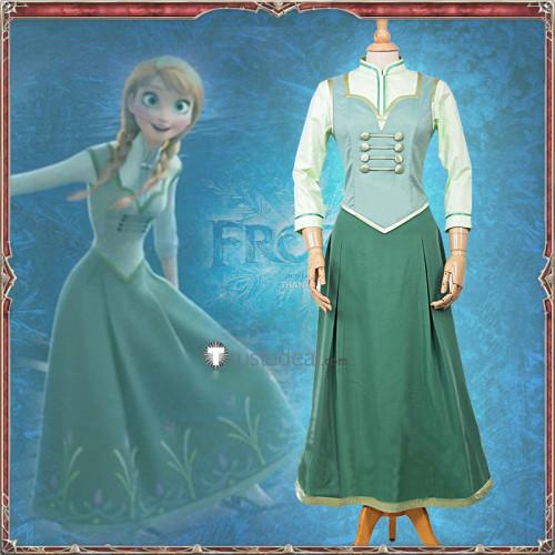 Frozen Disney Princess Anna Ending Epilogue Dress Cosplay Costume