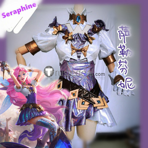 League of Legends LOL Seraphine Starry-Eyed Songstress Cosplay Costume