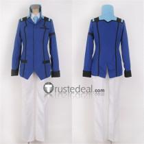 Mobile Suit Gundam 00 Graham Aker Blue White Cosplay Costume