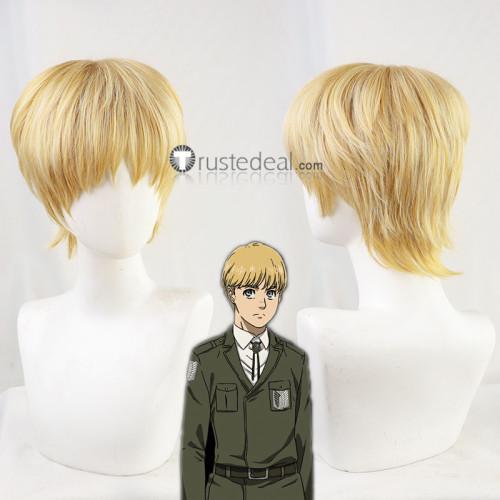 Attack on Titan Shingeki No Kyojin Hanji Zoe Armin Brown Ponytail Blonde Cosplay Wigs