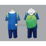 Adventure Time Finn the Human Blue Cosplay Costume