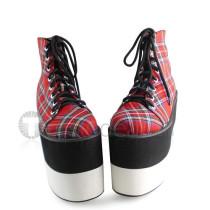 Scotish Gingham Double Color Sole Lolita Shoes