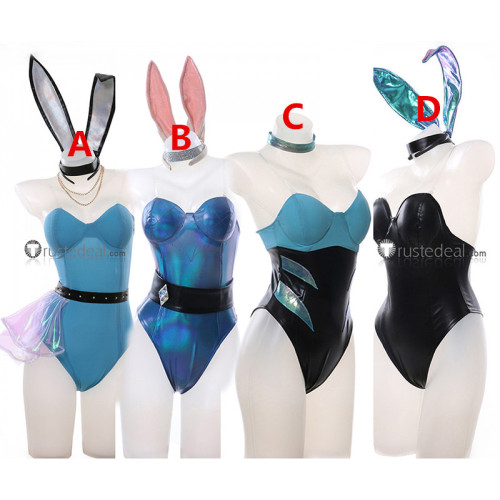 League of Legends LOL KDA Akali Ahri Evelynn Seraphine Bunny Suit Cosplay Costumes