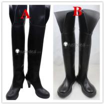 Seraph of the End Owari no Serafu Krul Tepes Black Cosplay Boots Shoes