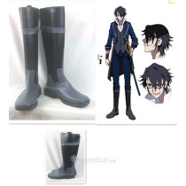 K Project Fushimi Saruhiko Black Cosplay Boots Shoes