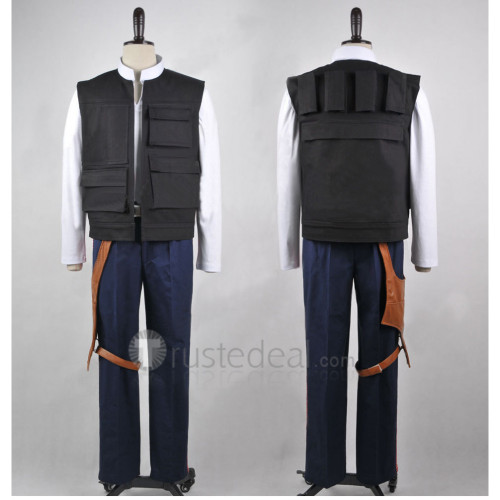Star Wars7 The Force Awakens Han Solo Cosplay Costume