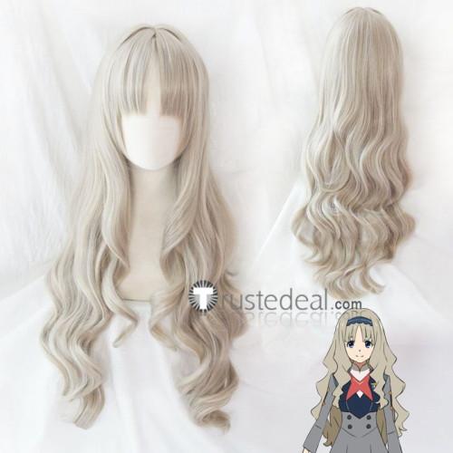 Darling in the Franxx Kokoro Code 556 Ashen Gray Blonde Curly Cosplay Wig