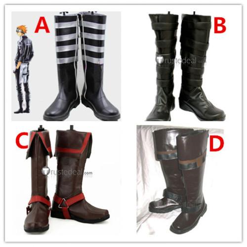 D.Gray-man Rabbi Lavi Allen Walker Cosplay Boots Shoes