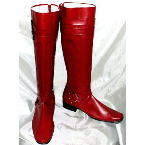 Blue Exorcist Mephisto Pheles Red Cosplay Boots Shoes