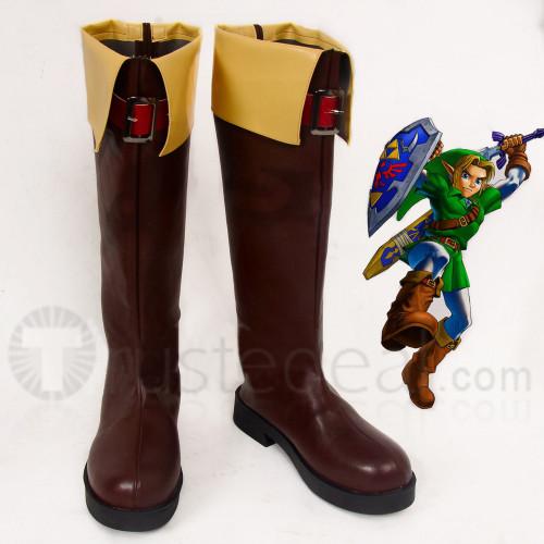 The Legend of Zelda Link brown Cosplay Boots Shoes