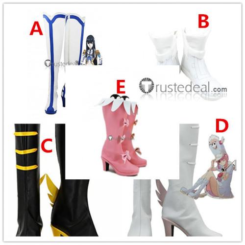 Kill La Kill Satsuki Kiryuin Nonon Jakuzure Matoi Ryuko Nui Harime White Pink Cosplay Shoes Boots