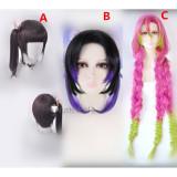 Kimetsu no Yaiba Demon Slayer Kanao Tsuyuri Shinobu Kochou Mitsuri Kanroji Cosplay Wigs