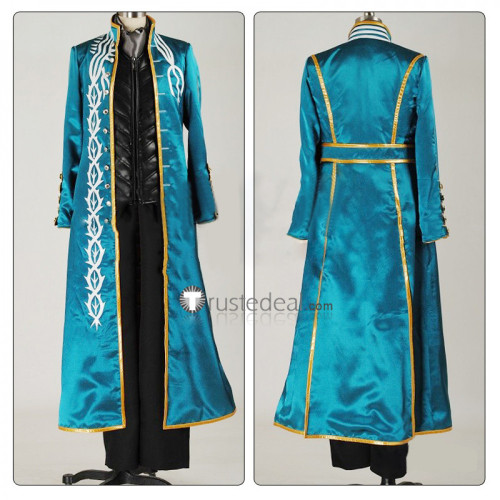Devil May Cry III Vergil Blue Cosplay Costume
