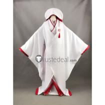 Hetalia Axis Powers Japan Honda Kiku White Wedding Kimono Cosplay Costume