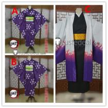 Kimetsu no Yaiba Demon Slayer Ubuyashiki Kagaya Kiriya Kanata Purple Kimono Cosplay Costumes