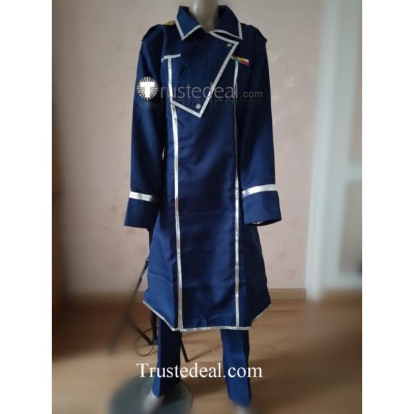 FullMetal Alchemist Fuhrer King Bradley Blue Uniform Cosplay Costume