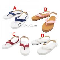 Kimetsu no Yaiba Tanjiro Nezuko Zenitsu Giyu Tomioka Inosuke Kanao Sanemi Kamado Cosplay Shoes Boots Sandals