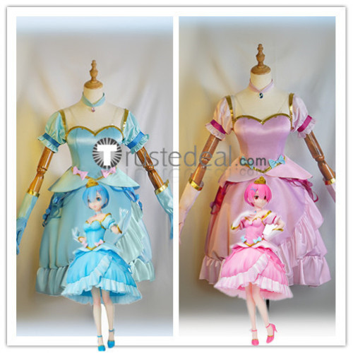 Re:Starting Life From Zero in a Different World Rem Ram Princess Cosplay Costumes