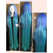 League of Legends LOL Pool Party Zoe Long Blue Gradient Cosplay Wig 150cm