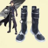 Sword Art Online Hollow Realization Kirito Black Cosplay Boots