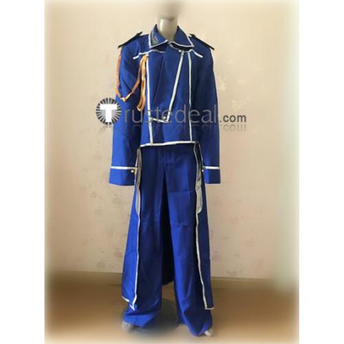 FullMetal Alchemist Roy Mustang Military Blue Cosplay Costume