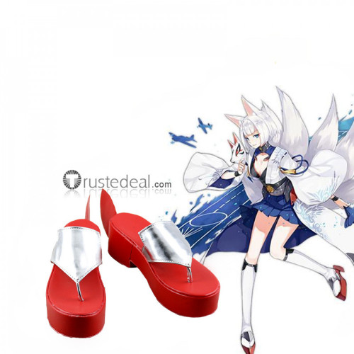 Azur Lane Kaga Red Cosplay Boots Shoes Sandals