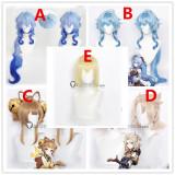 Genshin Impact Albedo Dainsleif Yaoyao Ganyu Brown Blue Blonde Purple Cosplay Wigs
