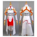 Sword Art Online Asuna KoB Cosplay Costume2