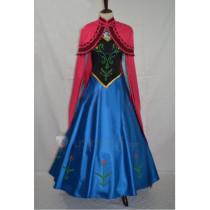 Frozen Disney Princess Anna Traveling Elegant Cosplay Costume