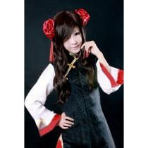 Hetalia Axis Powers Taiwan Black and Red Cosplay Dress