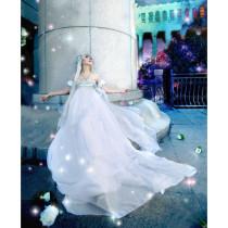 Sailor Moon Tsukino Usagi Princess White Formal Cosplay Dress