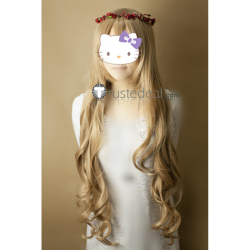 Vampire Knight Souen Ruka Blonde Brown Cosplay Wig100cm