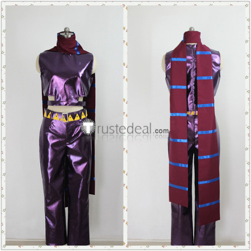 Jojo's Bizarre Adventure Joseph Joestar Purple Cosplay Costume 2