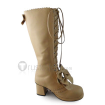 Double Layer Bows Lolita Boots