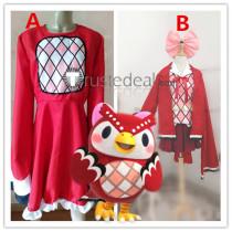 Animal Crossing Celeste Owl Gijinka Red White Cosplay Costumes