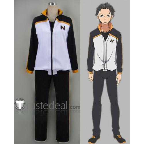 Re Zero Kara Hajimeru Isekai Seikatsu Subaru Natsuki Tracksuit Sports Daily Cosplay Costume