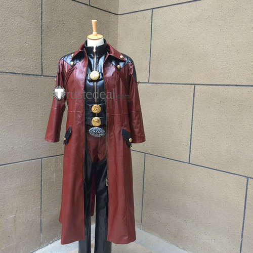 Devil May Cry 4 Dante Dark Red Game Cosplay Costume