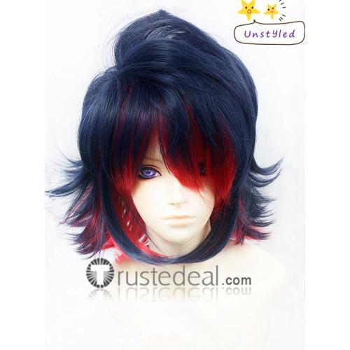 KILL la KILL Ryouko Matoi Blue Red Cosplay Wig