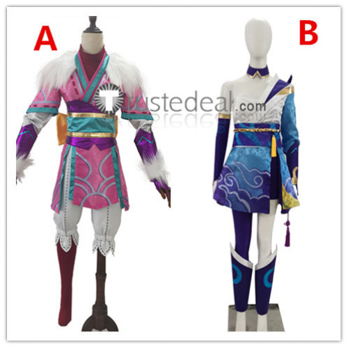 League of Legends LOL Spirit Blossom Riven Kindred Cosplay Costumes
