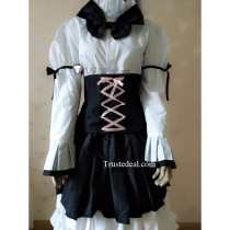 Blend S Hideri Kanzaki White Black Lolita Dress Cosplay Costume