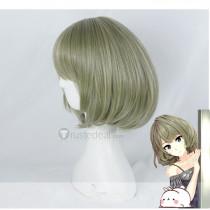The Idolmaster Cinderella Girls Kaede Takagaki Green BOB Cosplay Wig