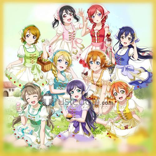 Love Live Umi Nico Eli Maki Tojo Kotori Rin Honoka Hanayo Witch Magician Cosplay Costumes