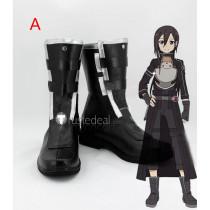 Sword Art Online Gun Gale Online GGO Kirigaya Kazuto Kirito Black Cosplay Shoes Boots