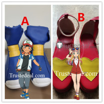 Pokemon Movie The Power of Us Ash Risa Lisa Cosplay Shoes Boots