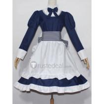Hetalia Axis Powers Belarus Byelorussia Natasha Alfroskaya Blue Maid Cosplay Costume
